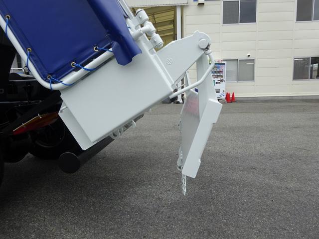 土砂ダンプ 電動コボレーン 新明和工業 角底一方開 標準 ベッドレス 3.5トン積み(18枚目)