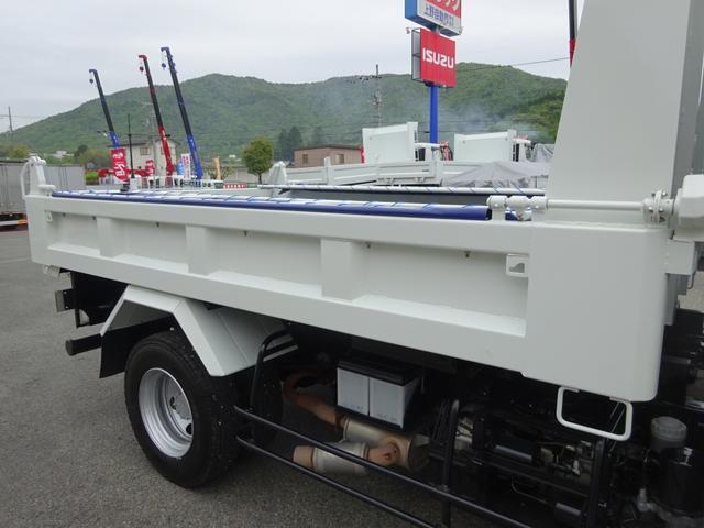 土砂ダンプ 電動コボレーン 新明和工業 角底一方開 標準 ベッドレス 3.5トン積み(22枚目)