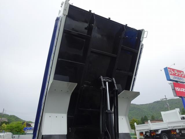 土砂ダンプ 電動コボレーン 新明和工業 角底一方開 標準 ベッドレス 3.5トン積み(27枚目)
