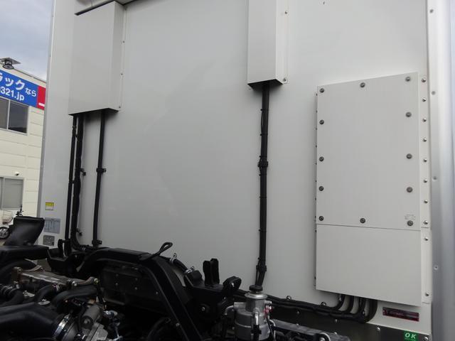 低温冷凍車 -30℃設定 床下格納ゲート 左片開き扉 ワイド ベッド付 2450kg積載(33枚目)