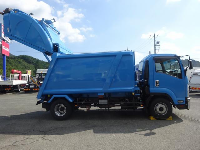 増トン プレス式パッカー 計量器付 10.2m3 新明和 G-PX 連続積込 汚水タンク無し 標準幅 4350kg積載(5枚目)
