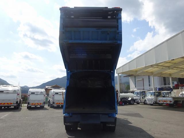増トン プレス式パッカー 計量器付 10.2m3 新明和 G-PX 連続積込 汚水タンク無し 標準幅 4350kg積載(7枚目)