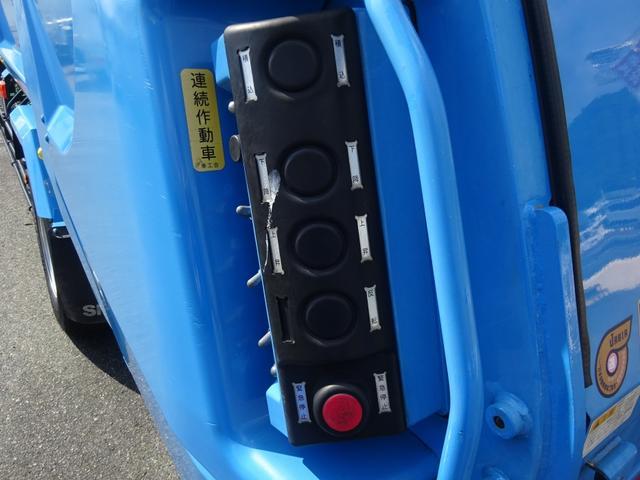 増トン プレス式パッカー 計量器付 10.2m3 新明和 G-PX 連続積込 汚水タンク無し 標準幅 4350kg積載(11枚目)