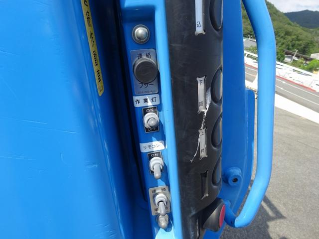 増トン プレス式パッカー 計量器付 10.2m3 新明和 G-PX 連続積込 汚水タンク無し 標準幅 4350kg積載(12枚目)