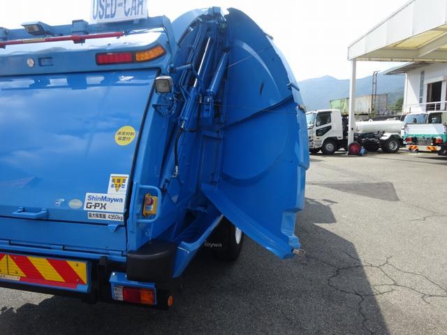 増トン プレス式パッカー 計量器付 10.2m3 新明和 G-PX 連続積込 汚水タンク無し 標準幅 4350kg積載(33枚目)