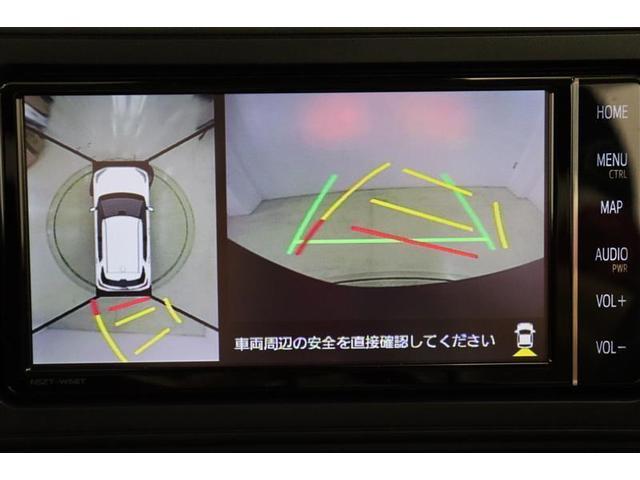 ハンドル操作にあわせてガイドラインが変化するバックカメラ搭載。後退時に後方が見えるのは安心ですね。全方位モニターも搭載しているので、周囲の状況を確認しながら駐車出来ます。慣れない場所でも心強いですよ。