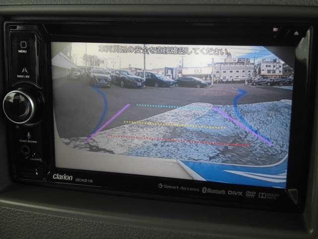 バックカメラも付いて狭い駐車場でも安心