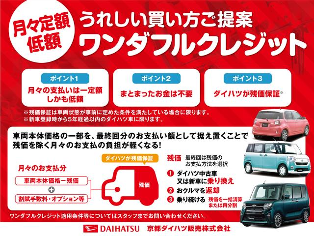 「ワンダフルクレジット」月々定額&少額でお車を契約できます!詳しくはスタッフまで!