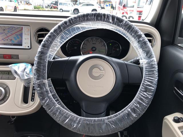 ココアX メモリーナビ バックカメラ ETC キーフリーシステム オートエアコン ベンチシート カーペットマット ホイールキャップ フォグランプ パールホワイト 電動格納式ドアミラー ワンセグチューナー ABS(8枚目)