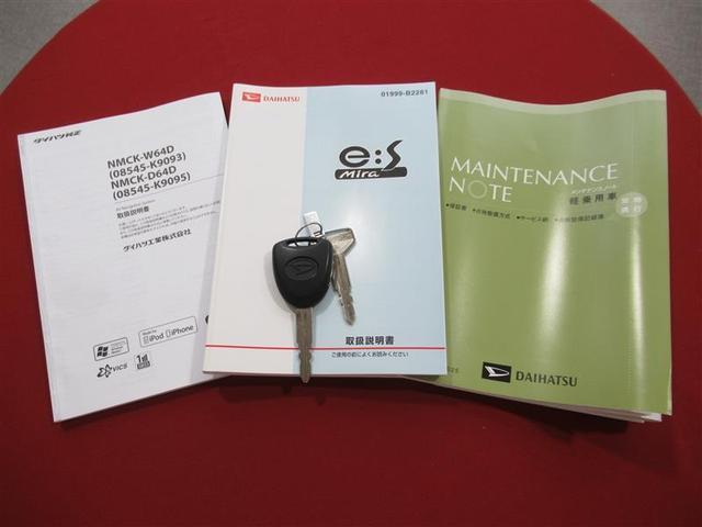 取扱説明書に整備記録簿、スペアキーも揃っております。