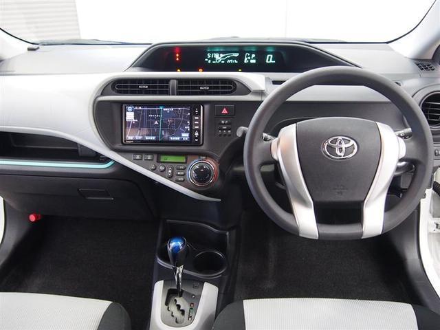 トヨタ アクア S 社外ナビ フルセグ ETC Bカメラ スマートキー