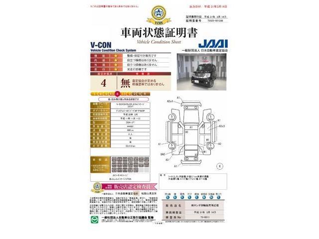 『車両状態証明書』が付いて安心の品質保証!!