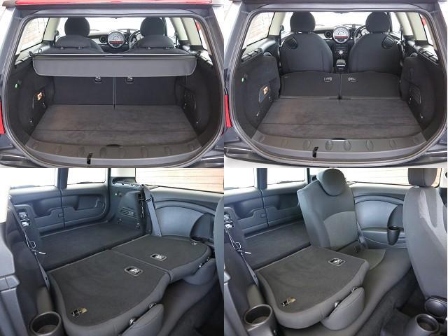 ■後席は使いやすさに徹したアレンジとなります!■2分割シートでシートバックを前方へ倒すと広大なラゲッジスペースになります!無駄なく使える便利な機能です