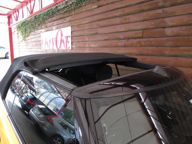クーパーS コンバーチブル イエローカラー フル電動2分割オープン Carrozzeria製2DINナビ フルセグ地デジ リアビューカメラ Bluetoothオーディオ シートヒーター ETC バックソナー キセノンライト(38枚目)