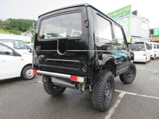4WD リフトアップ(社外シャックル) 社外ショック 社外マフラー 社外前後バンパー ステンレスタンクガード momoハンドル(2枚目)
