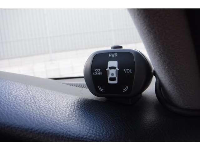 コーナーセンサー付きなので、安心して運転してもらえます。