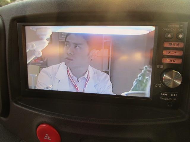 日産 キューブ 15X インディゴ+プラズマ メモリーナビ フルセグTV
