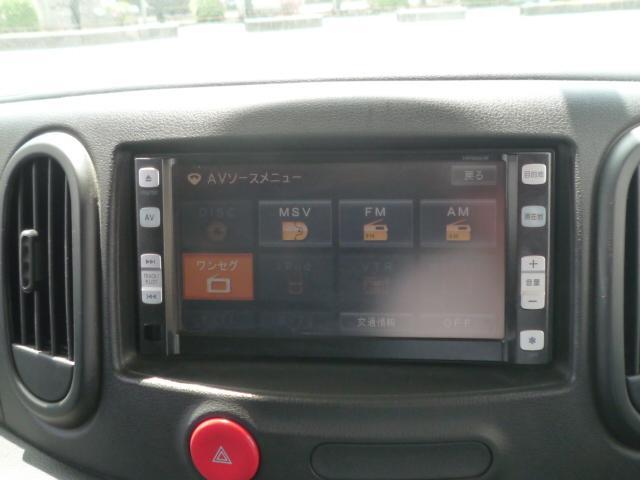日産 キューブ 15X HDDナビ ワンセグ キーレス