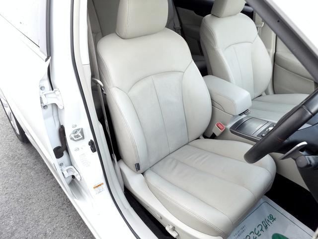 シートコンディション良好です■鮮やかベージュ本革内装■パワーシート&シートヒーター付き■HDDナビTV・ETC・オートクルーズ・アイサイト・SI-DRIVE等豪華装備が多数充実のお値打ち車です■