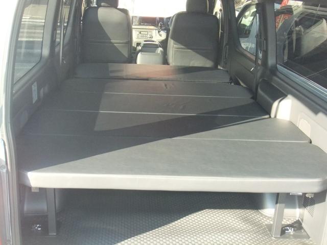 ロングスーパーGL NEW6型ハイエース 最新地デジナビ バックカメラ レザーシート キャンプ車中泊ベッドキット フロントエアロ ローダウン1インチ〜3インチ 60種類以上から選べるアルミホイール標準装備(6枚目)