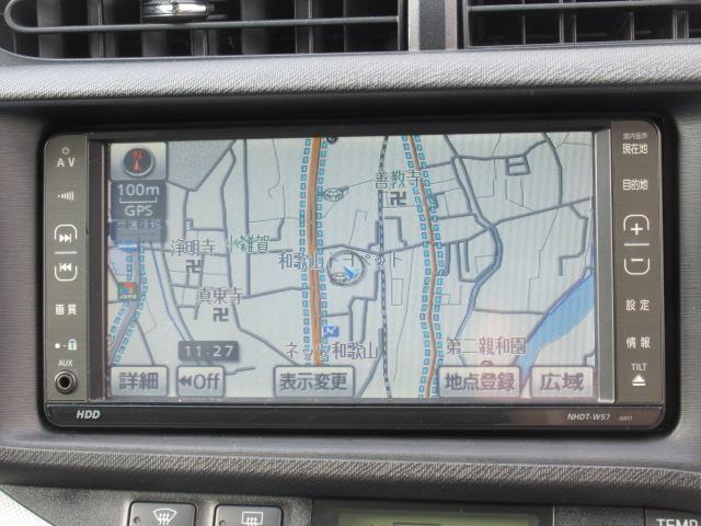 トヨタ アクア S HDDナビ