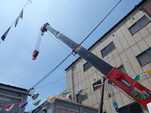 三菱ふそう キャンター 3t垂直式パワーゲート2.2t吊4段ユニック付 NOx適合D