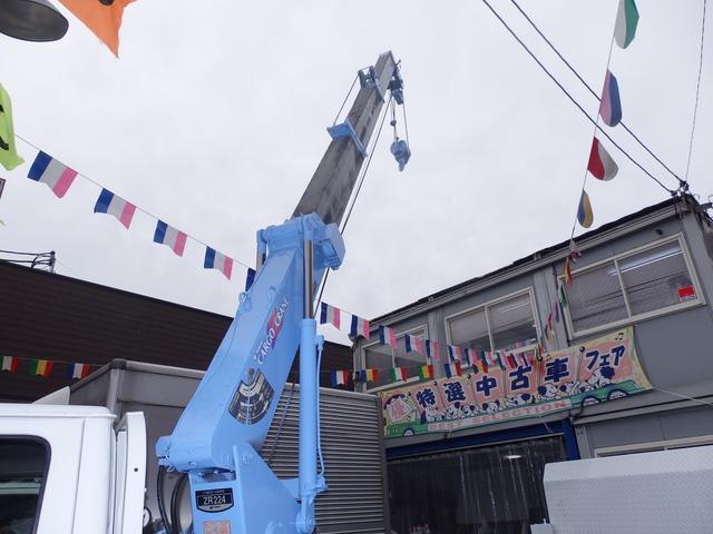 いすゞ エルフトラック 2t垂直式パワーゲート2.2t吊4段クレーン付 NOx適合D