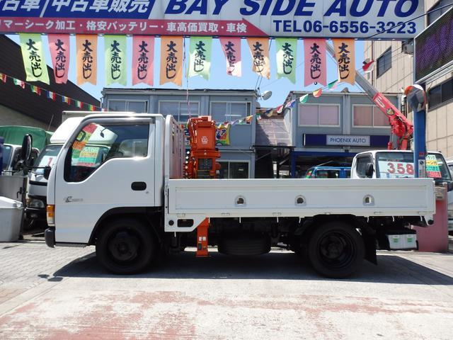 いすゞ エルフトラック 2tNOx適合ディーゼル 2.2t吊簡易ユニック 4段ブーム