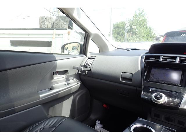 トヨタ プリウスアルファ S フルエアロ  車高調 HDDナビ地デジ