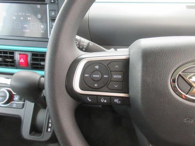 『ステアリングスイッチ』付きなので、運転中もハンドルから手を離さずにオーディ操作する事ができます。