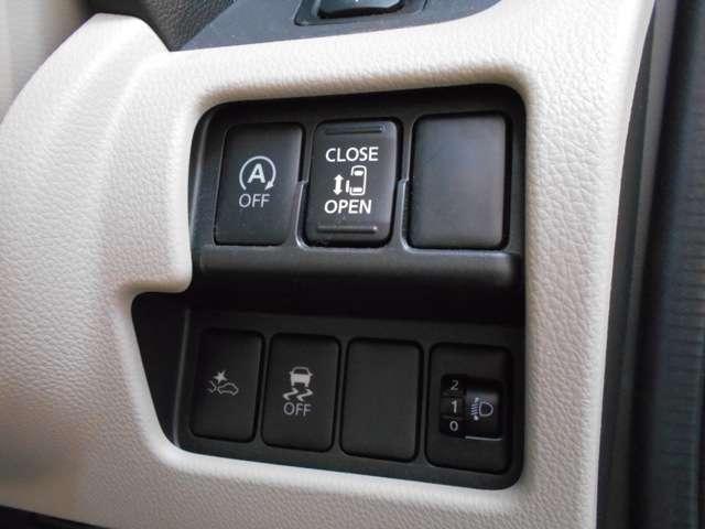 片側電動スライドドア付きなので、運転席から左スライドドアの開閉が出来るので便利です♪