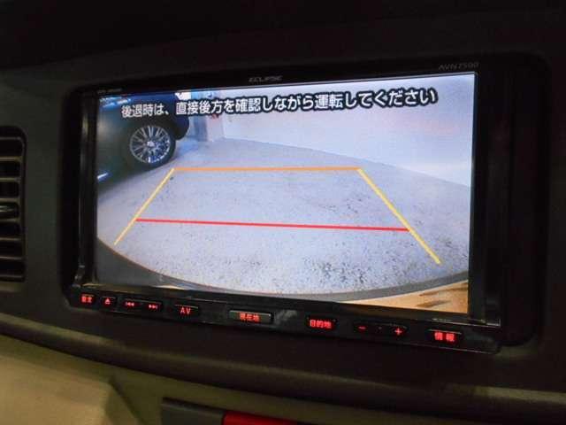 駐車時に安心のバックモニター付きなので後方の視界もクリアで安全確認もばっちりです。