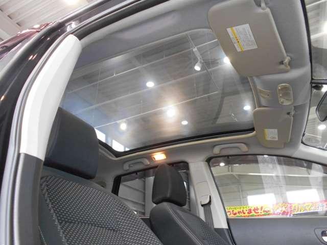 ガラスルーフ標準で車内にいながら空を見たり・・・
