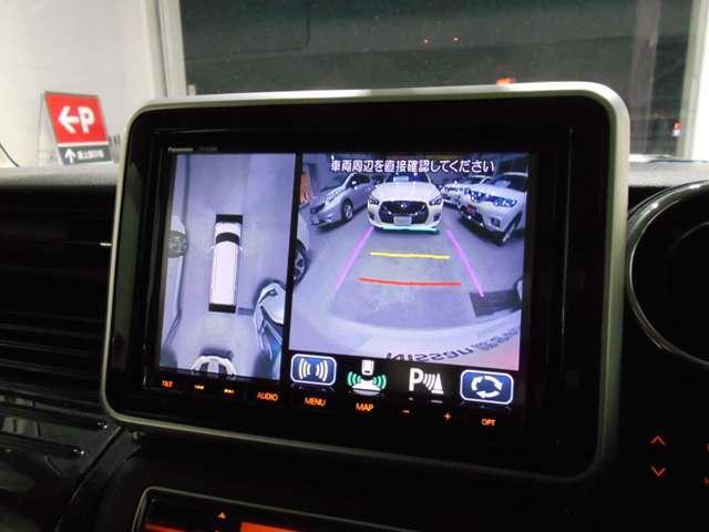 660 カスタム ハイブリッド XS 緊急ブレーキ 踏み間違い防止 DVD再生可能メモリーナビ 全方位カメラ 両側電動スライド LEDライト オートライト シートヒーター エアロ ドラレコ ETC 15インチアルミ(5枚目)