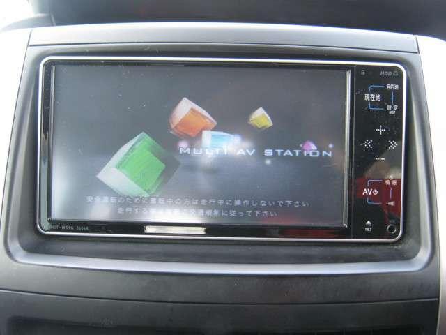 「純正ナビ」 純正HDDナビ付きで知らない土地のドライブも安心!CD、DVDビデオ、ワンセグTVも楽しめます♪
