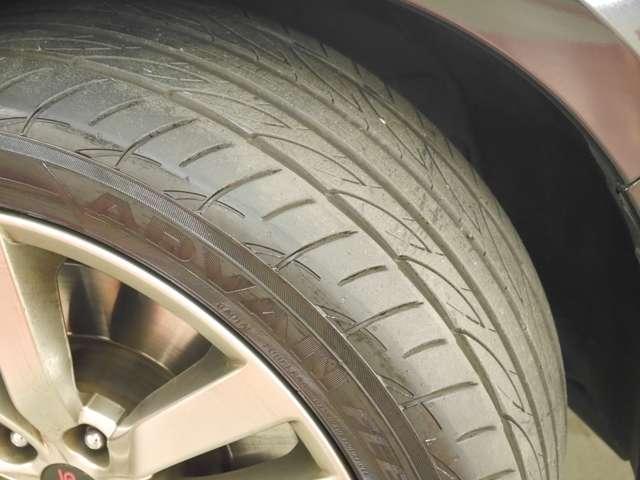 「タイヤ」タイヤサイズは245/40/R18 銘柄はヨコハマ アドバンです
