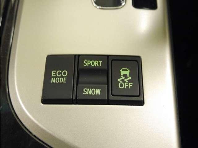 「走行モード切替」燃費重視からスポーツ走行までスイッチ一つで切り替えできます