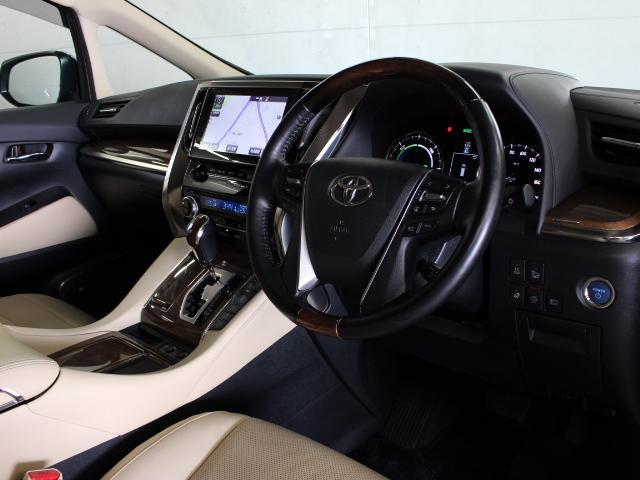 トヨタ アルファードハイブリッド エグゼクティブラウンジ 本革 メーカーナビ JBL PCS