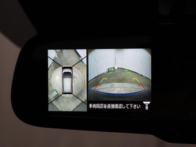 車両周辺を真上から見たような広範囲の映像を表示し、安全運転をサポートする「アラウンドビューモニター」内蔵ルームミラーを装備しています。