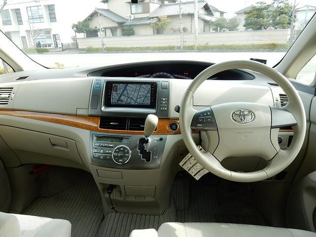 トヨタ エスティマ アエラス HDD地デジナビ フリップダウンモニタ 中期モデル