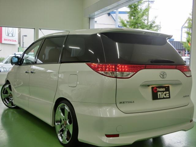 トヨタ エスティマ アエラスG HKS車高調 WORK20アルミ シートカバー