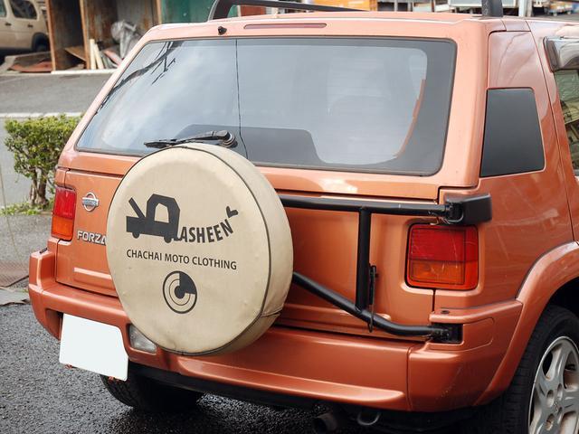 フォルザ オリジナルレザーシート 背面タイヤカバー(8枚目)