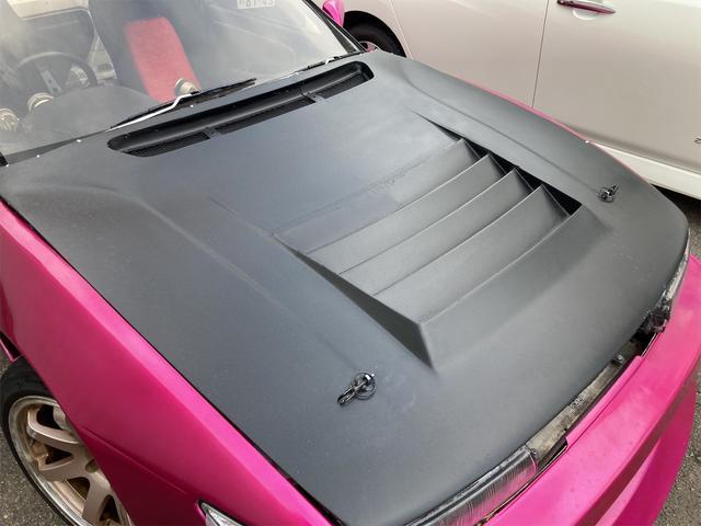 K's 車高調 デフ エアクリ マフラー 社外エキマニ オイルクーラー エレメント移動 前置インクラ 角目Hライト フルエアロ 強化クラッチ 前後オーバーフェンダー パワーFC 社外燃ポン 検査来年10月迄(23枚目)