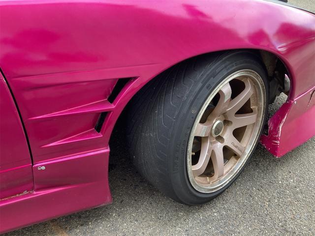 K's 車高調 デフ エアクリ マフラー 社外エキマニ オイルクーラー エレメント移動 前置インクラ 角目Hライト フルエアロ 強化クラッチ 前後オーバーフェンダー パワーFC 社外燃ポン 検査来年10月迄(40枚目)