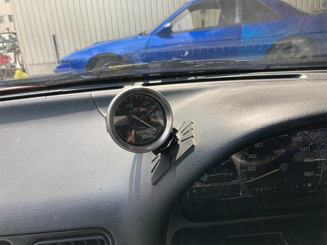 Q's ワンオフ前後オーバーフェンダー 車高調 セミバケットシート 社外ハンドル  WORKエクイップ15インチ 新品アルミホイール 新品タイヤ 社外マフラー バキュームメーター 角目ヘッドライト 純正グリル(17枚目)