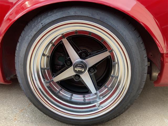 Q's ワンオフ前後オーバーフェンダー 車高調 セミバケットシート 社外ハンドル  WORKエクイップ15インチ 新品アルミホイール 新品タイヤ 社外マフラー バキュームメーター 角目ヘッドライト 純正グリル(24枚目)