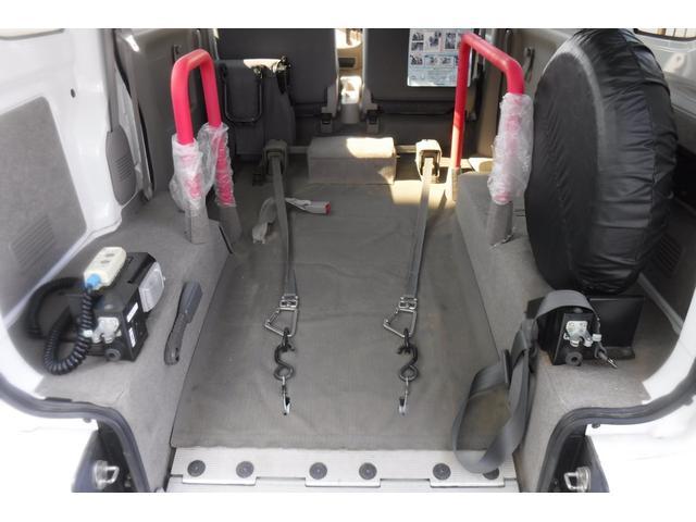 スローパー補助シート付 後部電動固定 車いす乗員用手すり付(12枚目)