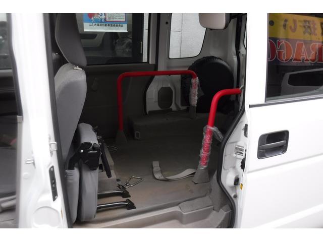 スローパー補助シート付 後部電動固定 車いす乗員用手すり付(14枚目)