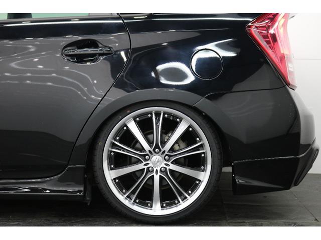 トヨタ プリウス 後期S新TEIN車高調新アネーロ19AWイカリングETC