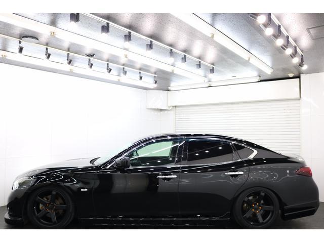 日産 フーガ 250GT全国陸送無料社外19新テイン車高調イカリングヘッド